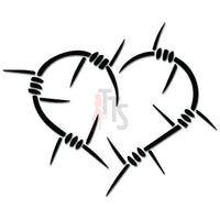 Barbwire Heart Love Hurts Decal Sticker