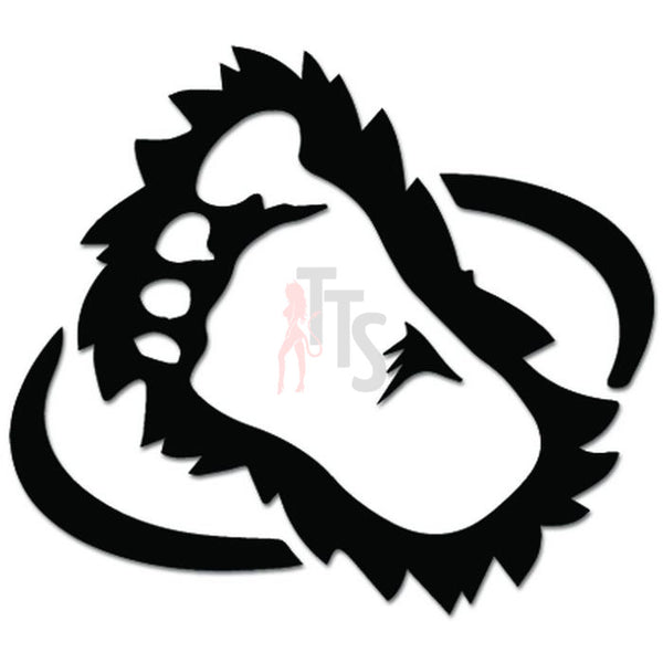 Bigfoot Monster Yeti Sasquatch Decal Sticker Style 2