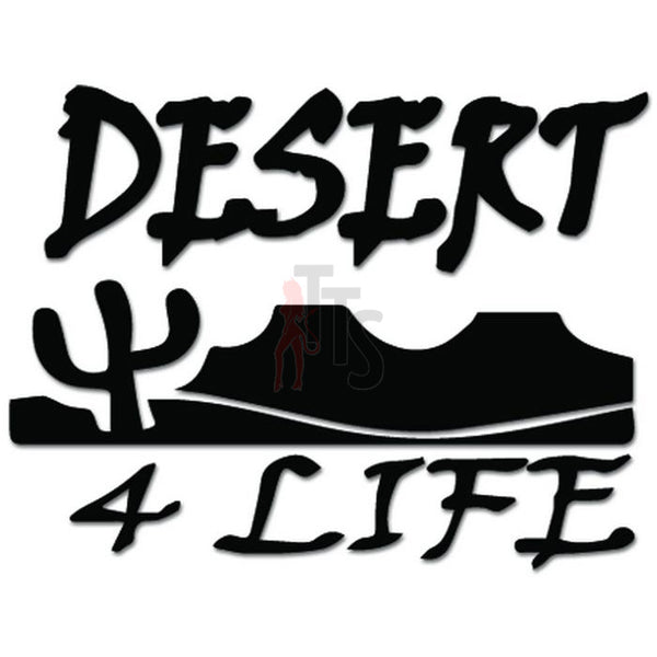 Desert For Life Cactus Decal Sticker