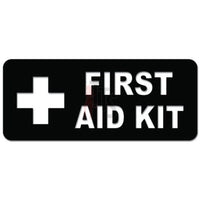 First Aid Kit Sign Decal Sticker Style 1