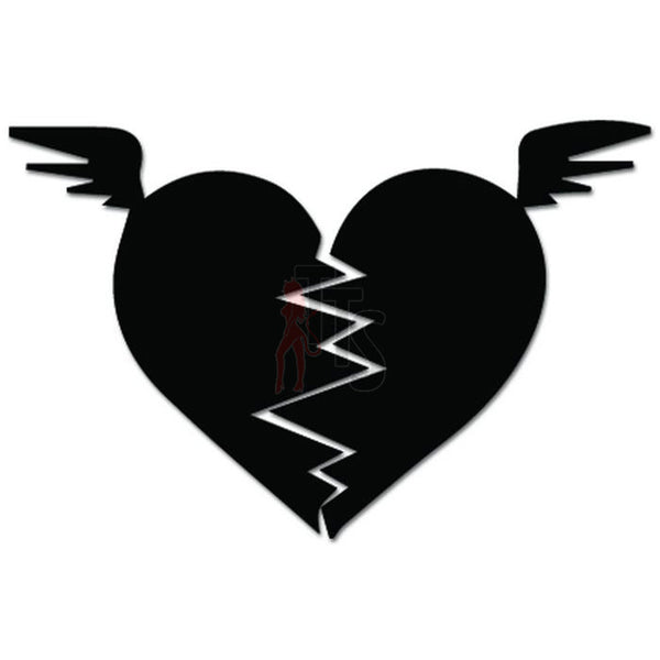 Broken Heart Decal Sticker