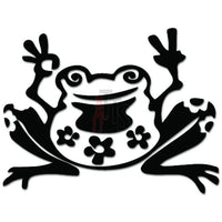 Frog Peace Sign OK Decal Sticker