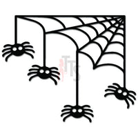 Halloween Spider Web Decal Sticker