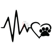 Heartbeat Love Dog Paw Decal Sticker