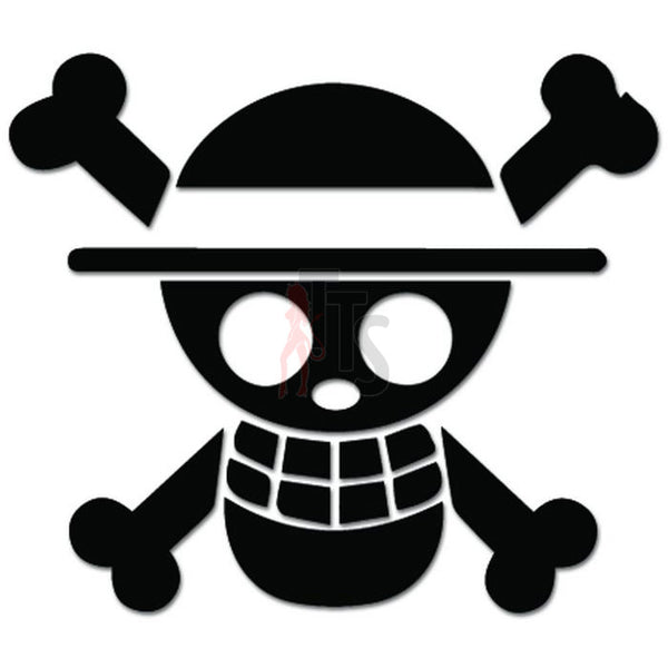 Jolly Roger Pirate Flag Decal Sticker Style 1