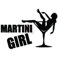 Martini Girl Alcohol Drink Decal Sticker