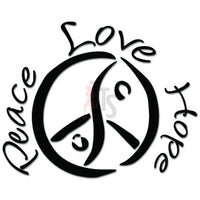 Peace Love Hope Decal Sticker