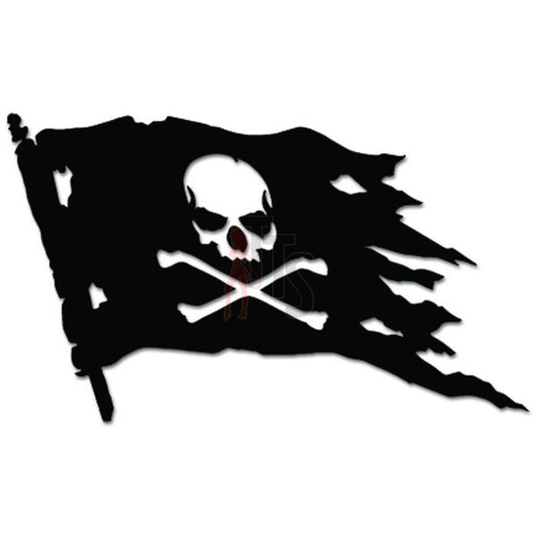 Jolly Roger Pirate Flag Decal Sticker Style 2