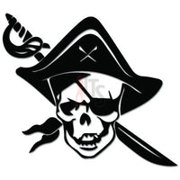 Pirate Skull Sword Decal Sticker