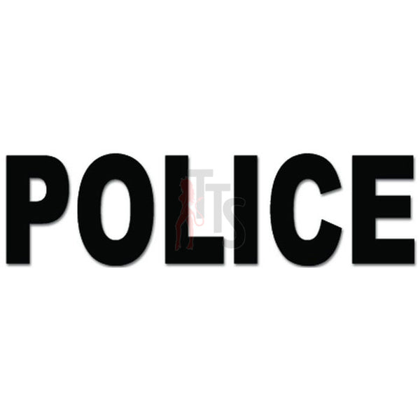 Police Cop Officer Decal Sticker
