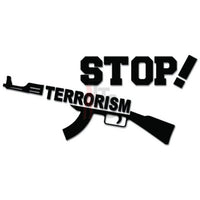 Stop Terrorism Terrorist Decal Sticker