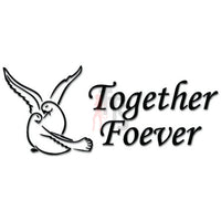 Together Forever Dove Bird Decal Sticker