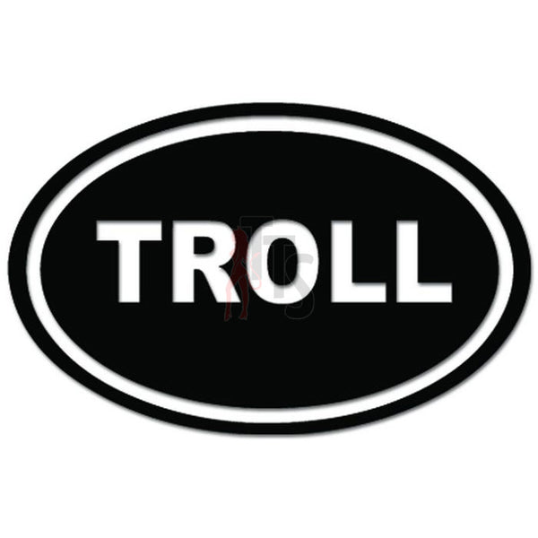 Troll Oval Decal Sticker