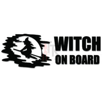 Witch on Board Decal Sticker
