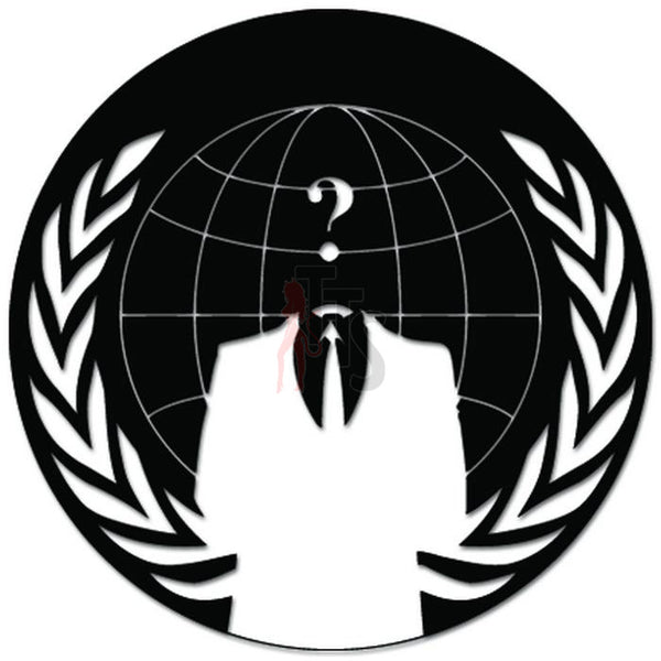 Anonymous Occupy America Decal Sticker Style 2