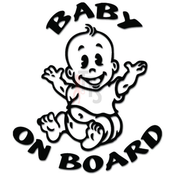 Baby on Board Feet Decal Sticker Style 3
