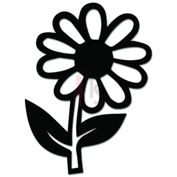 Daisy Flower Decal Sticker Style 9