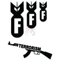 F Bomb Terrorism Nuke Decal Sticker