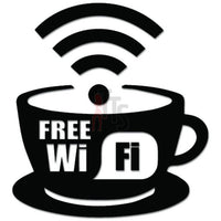Free Wi Fi Coffee Shop Internet Decal Sticker