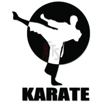 Karate Martial Arts Decal Sticker