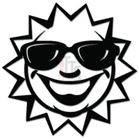 Sun Wearing Sunglasses Decal Sticker