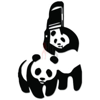 WWF Wrestling Panda Bear Decal Sticker