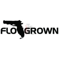 Florida Grown Gun Pistol Decal Sticker