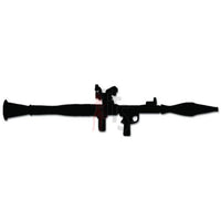 RPG Rocket Propelled Grenade Weapon Decal Sticker