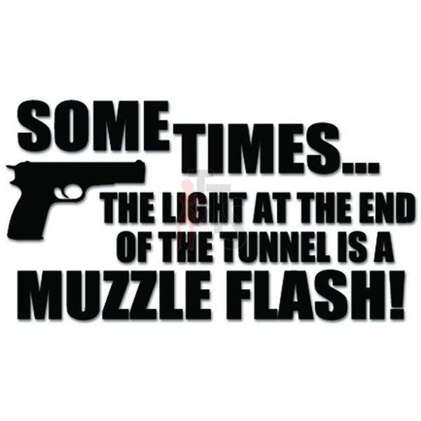Muzzle Flash End Tunnel Gun Pistol Decal Sticker