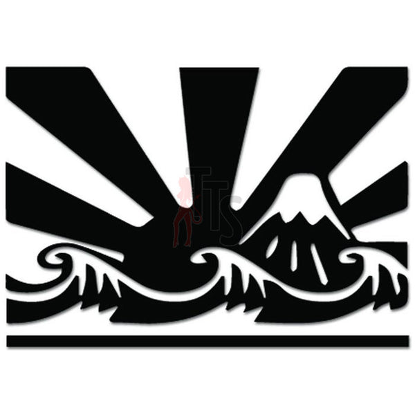 Rising Sun Ocean Waves JDM Japanese Decal Sticker