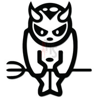Devil Satan Pitchfork JDM Japanese Decal Sticker Style 1