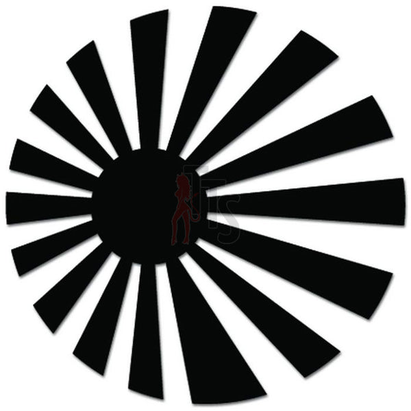Rising Sun Circle JDM Japanese Decal Sticker