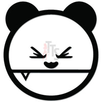 Panda Bear Fang JDM Japanese Decal Sticker