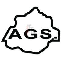 AGS Agualcalientes Mexico State Map Decal Sticker