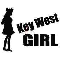 Key West Girl Decal Sticker