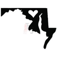 Maryland State Love Decal Sticker