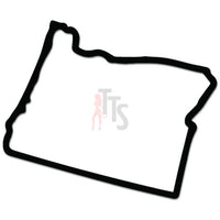 Oregon State Map Decal Sticker