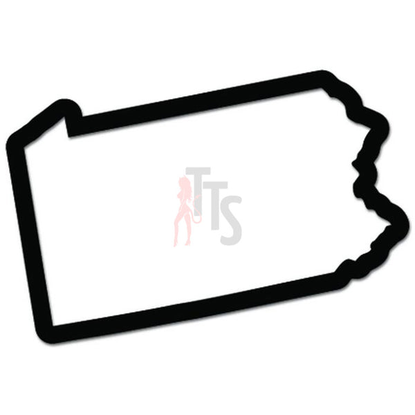 Pennsylvania State Map Decal Sticker