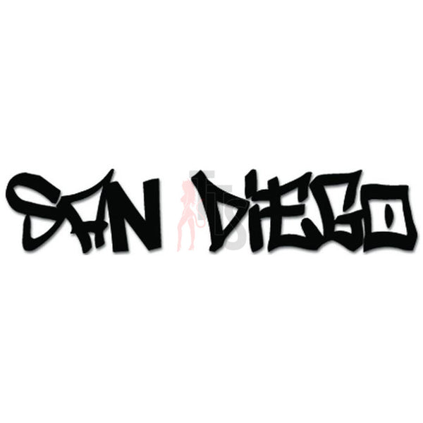 San Diego California State Graffiti Decal Sticker Style 2