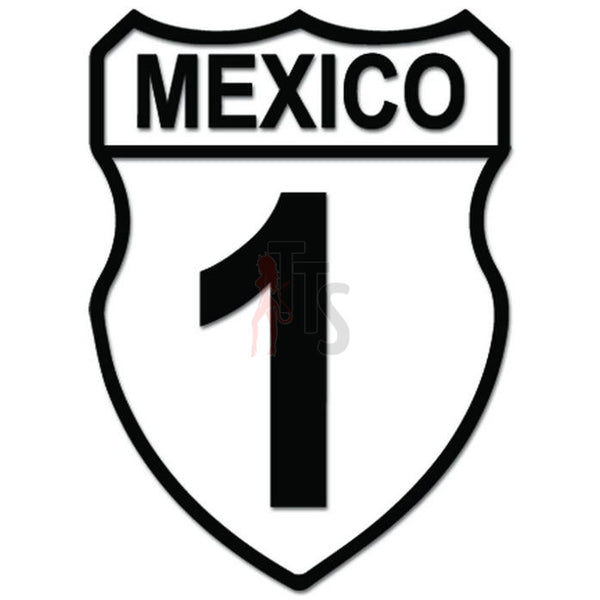 Baja Highway 1 Mexico California Decal Sticker Style 2