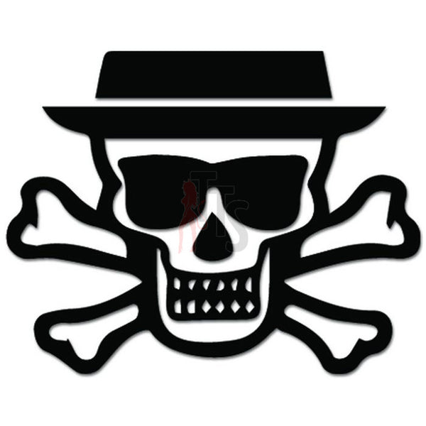 Breaking Bad Heisenberg Skull Decal Sticker