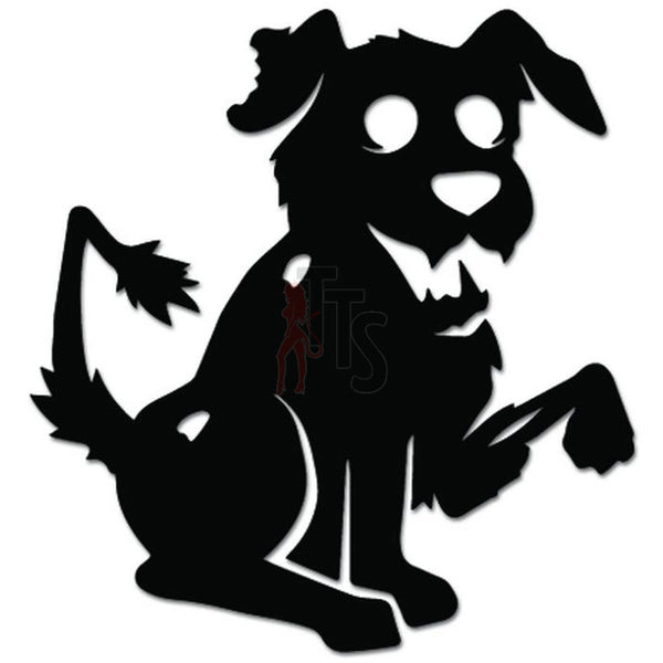 Zombie Dog Pet Decal Sticker Style 1
