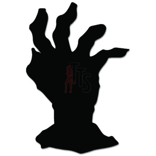 Zombie Hand Grave Decal Sticker Style 1
