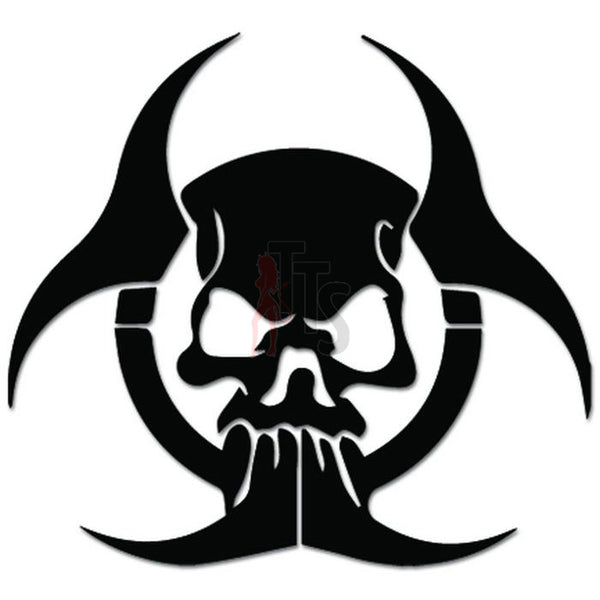 Biohazard Death Skull Decal Sticker