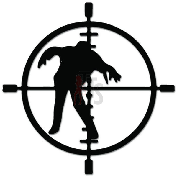 Zombie Sniper Crosshairs Decal Sticker