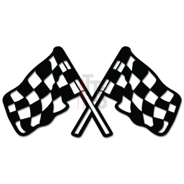 Checkered Racing Flags Decal Sticker