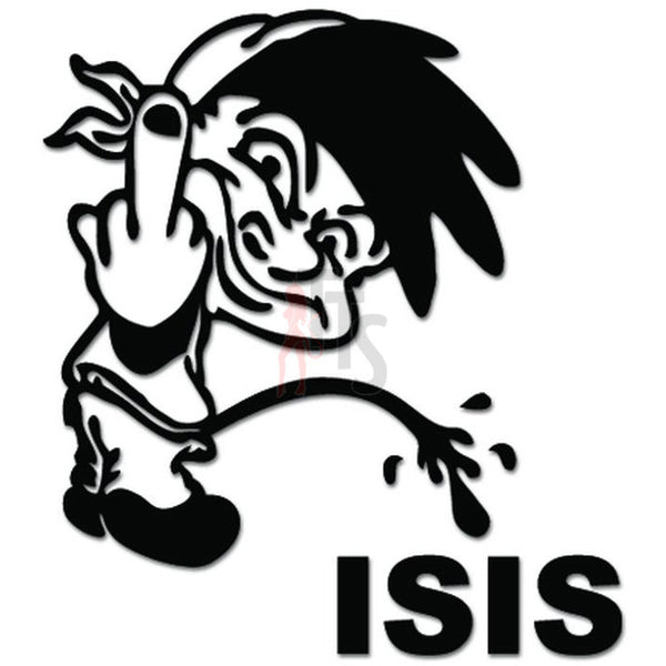 Piss Pee On ISIS Terrorist Decal Sticker