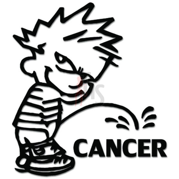 Piss Pee On Cancer Decal Sticker