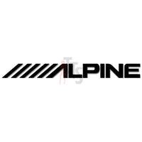 Alpine Car Audio Decal Sticker