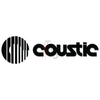 Coustic Car Audio Decal Sticker Style 2
